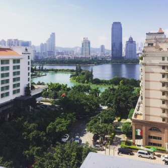 This picture was taken from my bedroom in Xiamen, China where I lived for about 4 months with my dad.